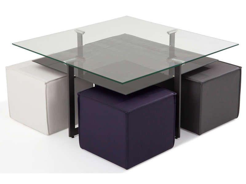 table basse 4 poufs bolero prix promo table basse conforama pas cher meubles pas. Black Bedroom Furniture Sets. Home Design Ideas