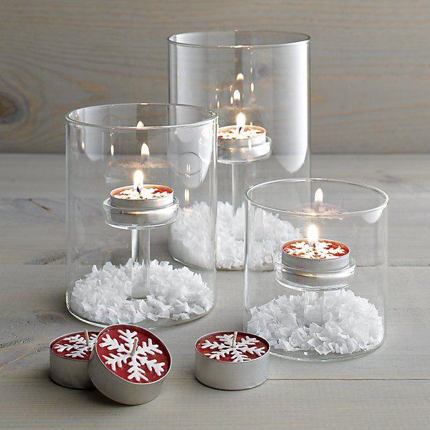 Elsa Glass Tea Light Candle Holders | Crate and Barrel
