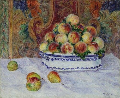Renoir. Still life with peaches. From 1881