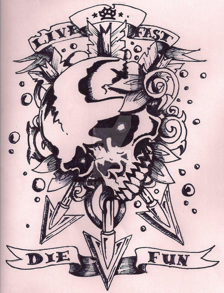 Old school skull art pinterest