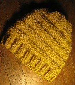 A very easy hat to make that uses only knit and purl. The ...