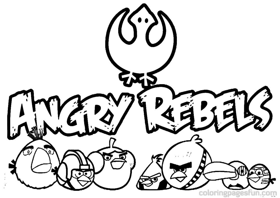 Angry Birds Star Wars Coloring Pages 21