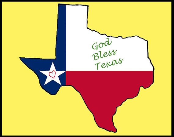 God Bless Texas Acrylic Popart Painting Preview by DesignsByGramma, $50.00