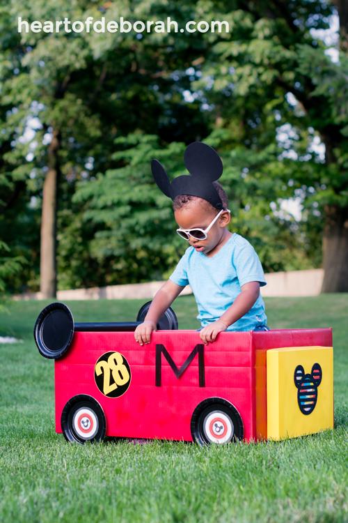 Diy Mickey And The Roadster Racers Cardboard Box Car Mickey