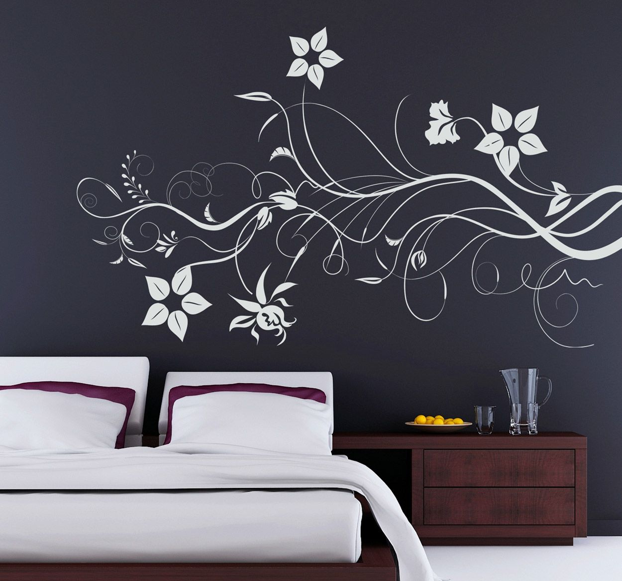 Elegant And Classy Floral Design To Decorate Your Home Ideal For  ~ Aplicaciã³n Para Pintar Paredes