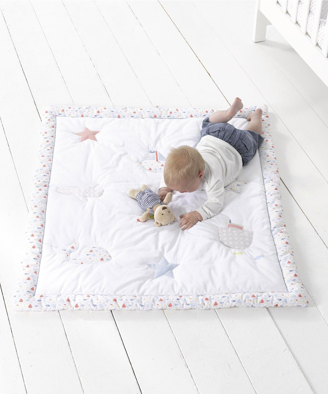 Mothercare Nautical Bedding: Mothercare Adventure Ahead Cot/Cot Bed Quilt