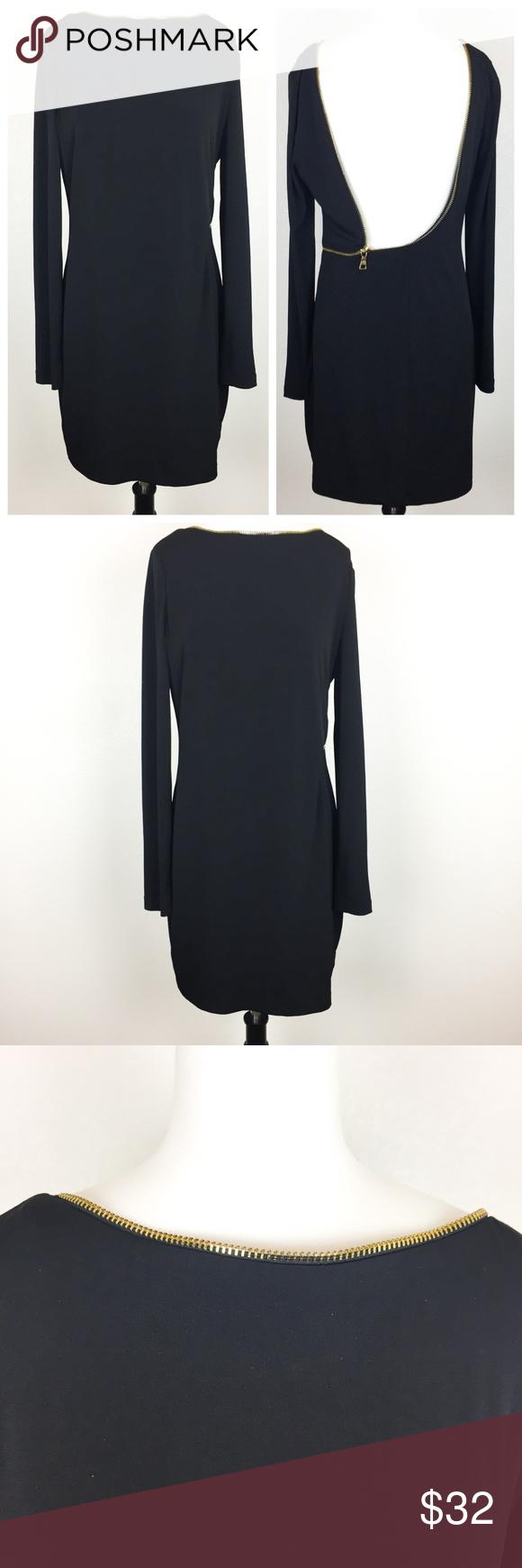 Allen B Allen Schwartz Black Dress Zipper Back M Dress Zipper Allen Schwartz Dress Black Dress [ 1740 x 580 Pixel ]