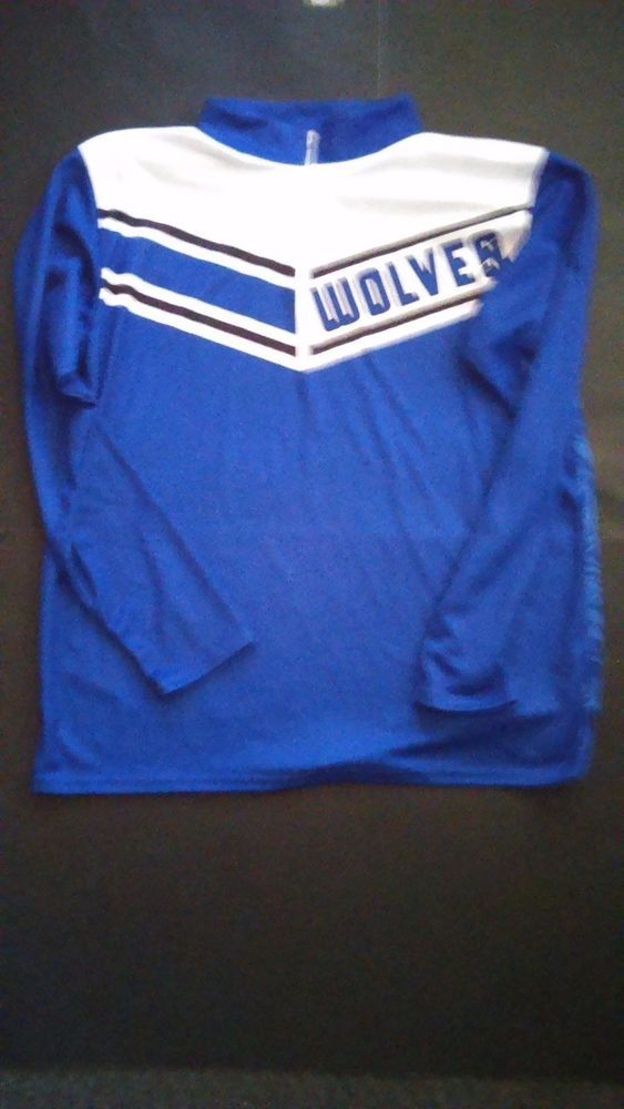 Alleson Athletic Wolves Basketball Warm Up Shirt L S Blue Pullover Men s L  Large  AllesonAthletic  ShirtsTops a9fb04398