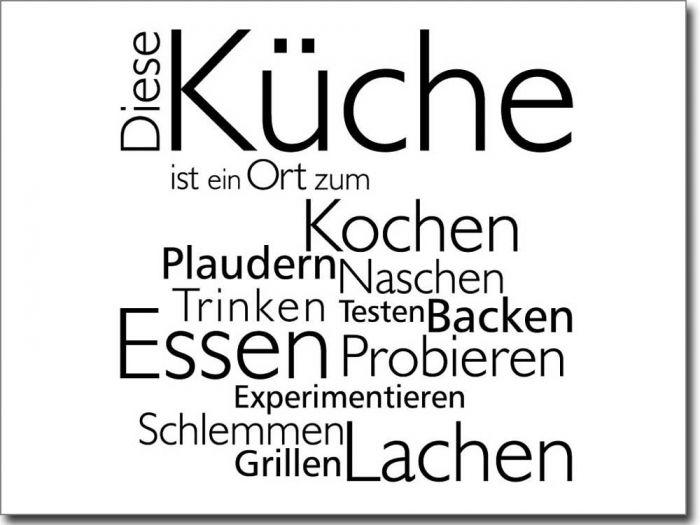 Wandtattoo Diese Küche | Spruch küche, Wandtattoo und ...