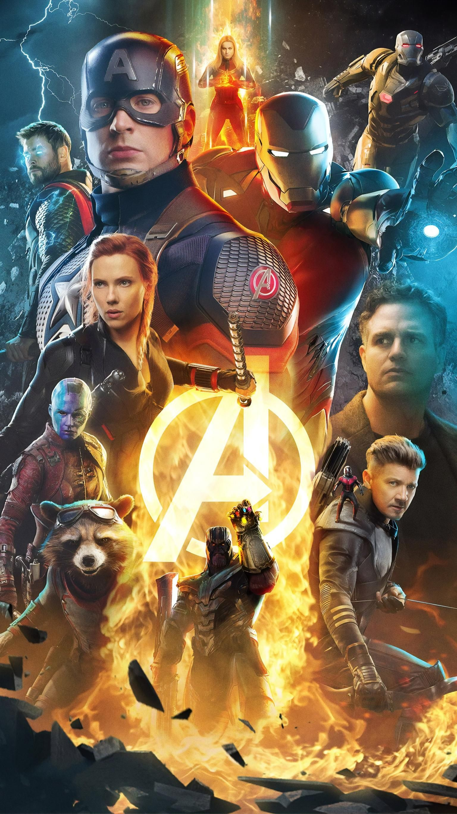 Avengers Endgame (2019) Phone Wallpaper Marvel