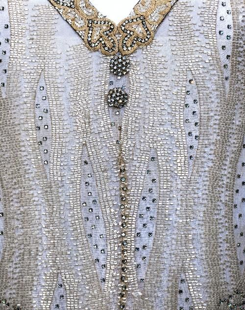 Muslin dress, tube beads and strass, Maison Agnès, 1928-1929, Palais Galliera, musée de la Mode de la Ville de Paris