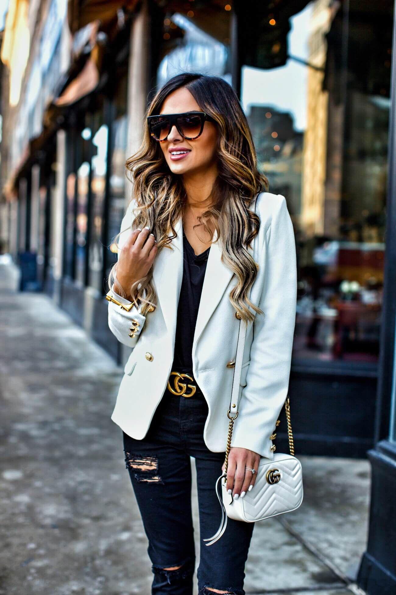 91ce05819ac0 fashion blogger mia mia mine wearing a gucci marmont bag and celine  sunglasses