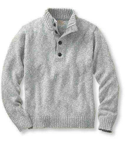 Cotton Ragg Sweater, Button Mock: Sweaters and Sweatshirts   Free Shipping at L.L.Bean
