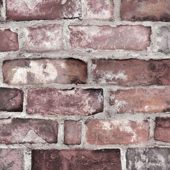 Removable Wallpaper Vintage Brick Self Adhesive Fabric Etsy Brick Wallpaper Peel And Stick Brick Wallpaper Brick