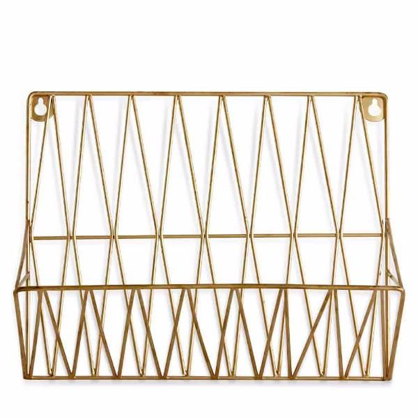 Curated Online Homeware Gold Walls Magazine Rack Home Decor