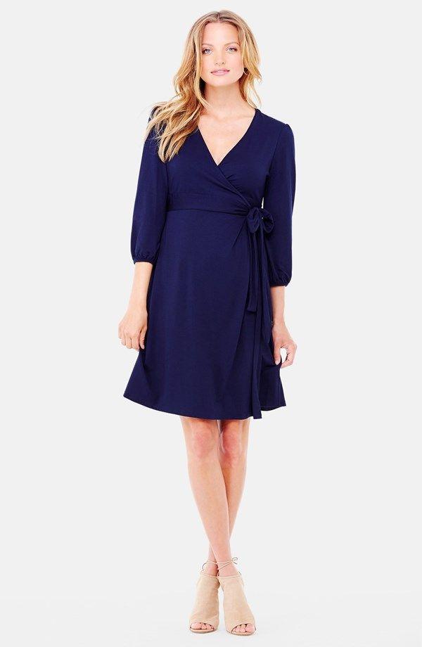 Nursing Friendly Maternity Wrap Dress