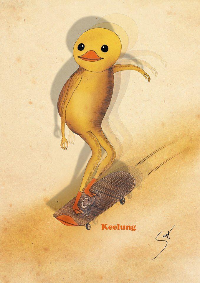 黃色小鴨滑小鴨