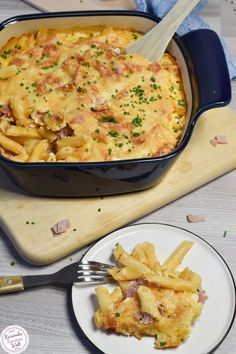 Photo of Pasta and ham gratin without any fix