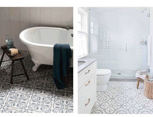 Patterned Floor Tiles For Bathroom   Google Search