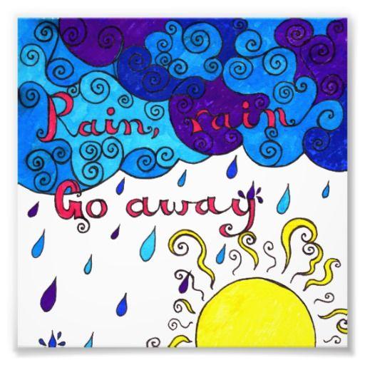 Rain, Rain Go Away - photographic print by Sneddonia on Zazzle