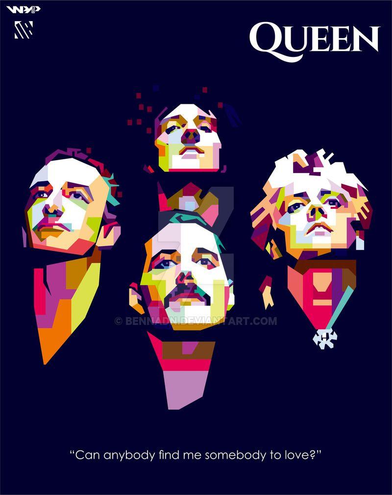 Queen Wpap By Bennadn Deviantart Com On Deviantart Queen Art Queen Band Queen Poster
