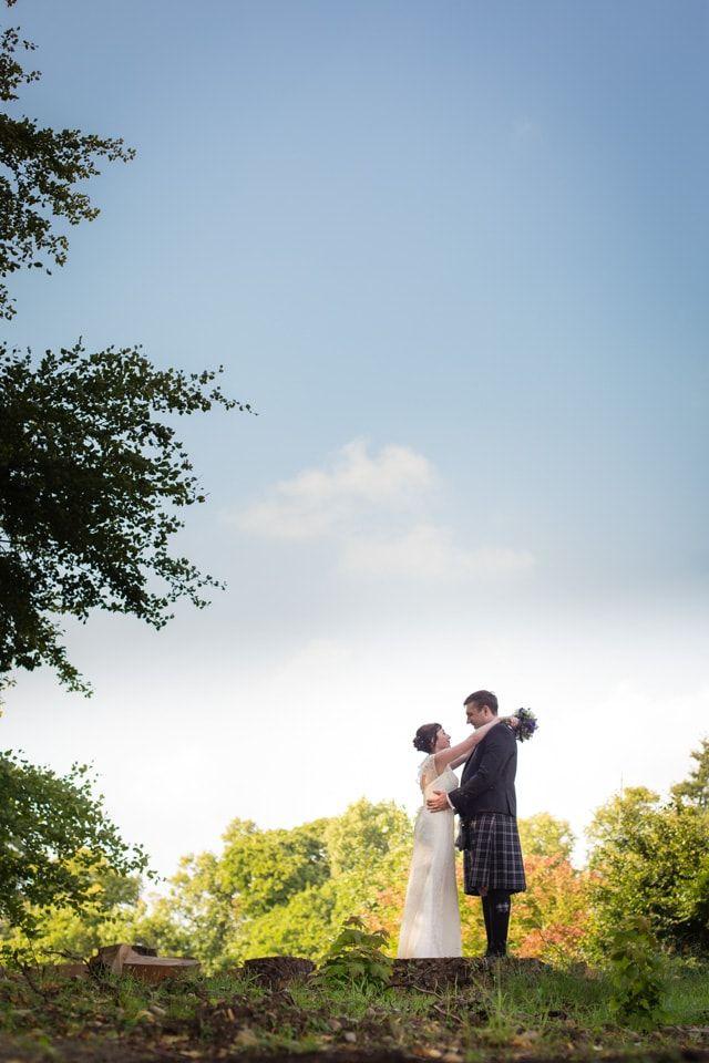 Banchory Lodge Wedding Bride Groom Sunny Woodland Portraits By