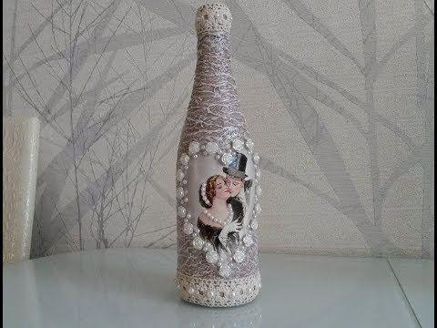 Подарочная бутылка своими руками фото 38