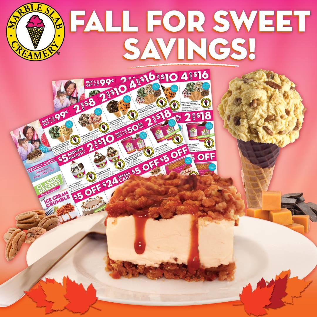 Marble Slab Creamery Canada Coupons Buy 1 Cone Get 1 For 99 5 Off Large Or Slab Ice Cream Cake More Offers Ht Ice Cream Cake Marble Slab Creamery Ice Cream