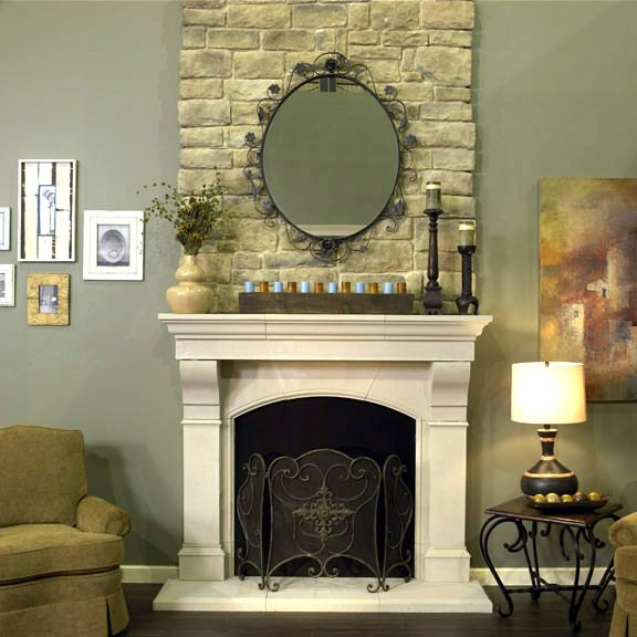 Cast stone fireplace surrounds are a cost-effective alternative to natural stone. They add beauty to your home. Call Old World Stoneworks today.