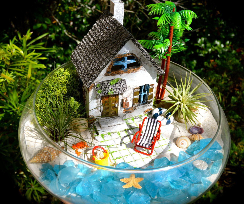 The 50 Best Diy Miniature Fairy Garden Ideas In 2019: Beachside Cottage Terrarium Kit