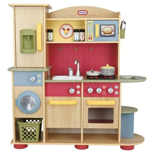 little tikes premium wooden kitchen playset wooden. Black Bedroom Furniture Sets. Home Design Ideas