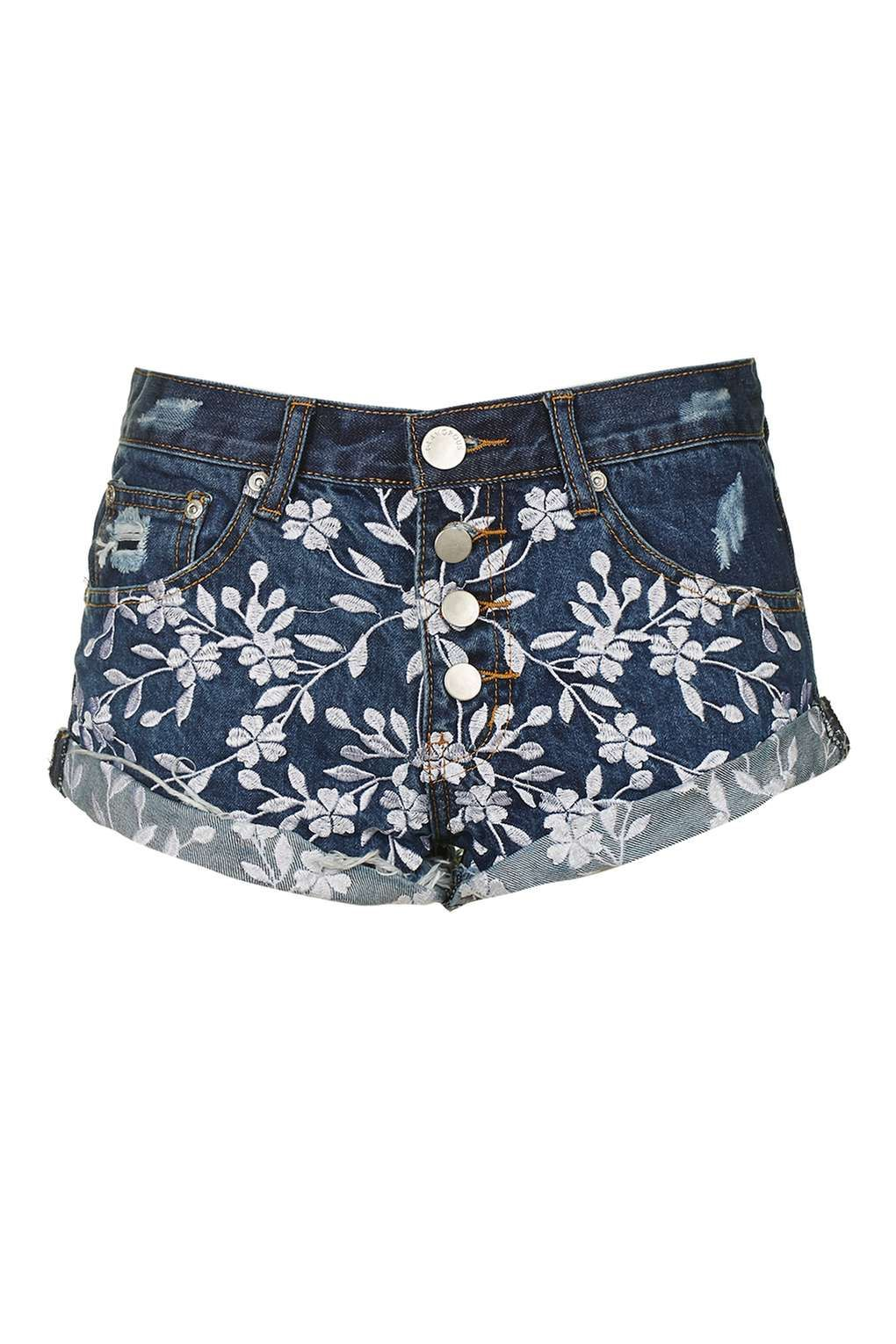 **Embroidered Shorts by Glamorous Petites - Topshop Europe. White Jean ...