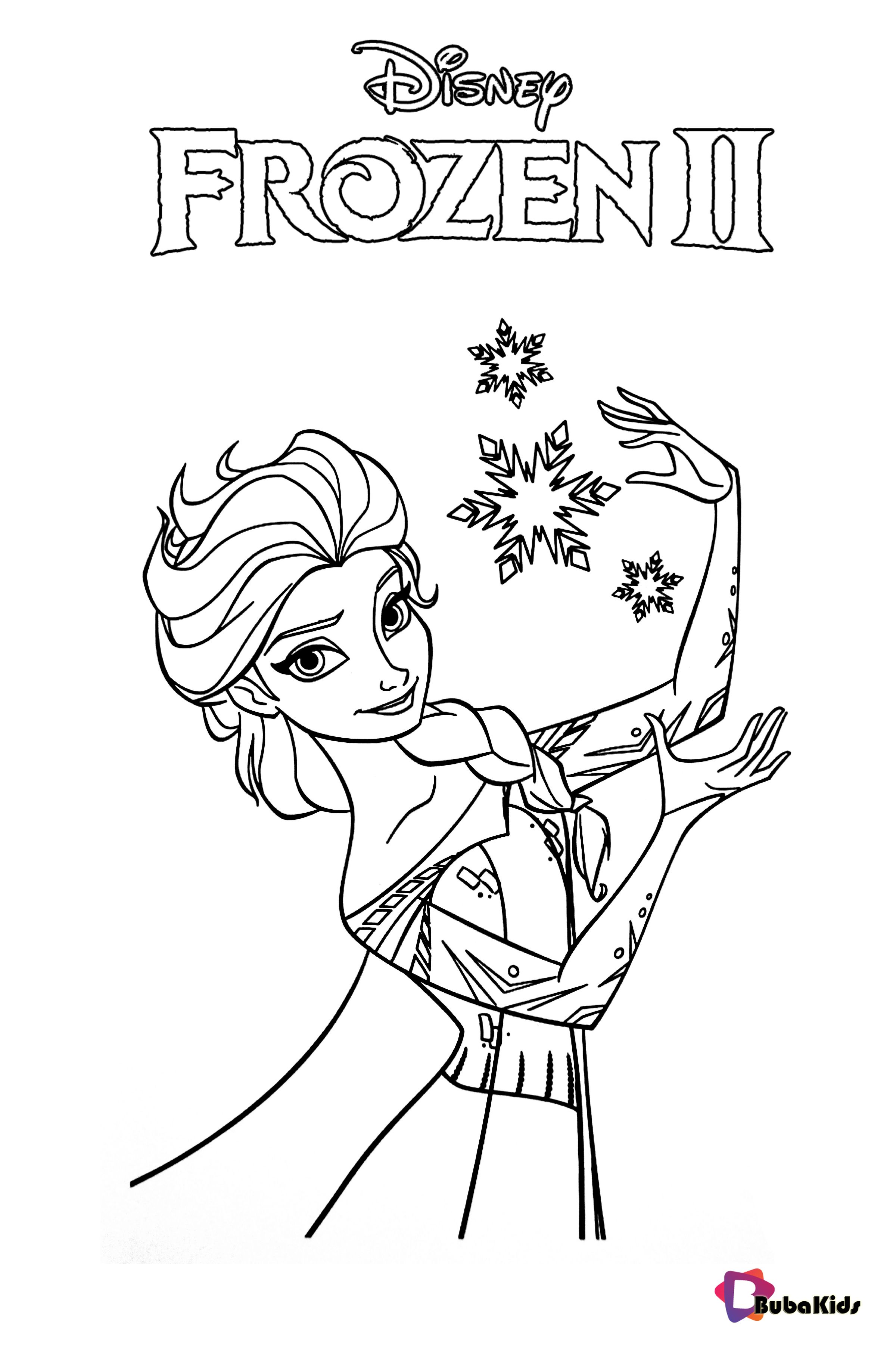 Free Printable Coloring Pages Frozen 2