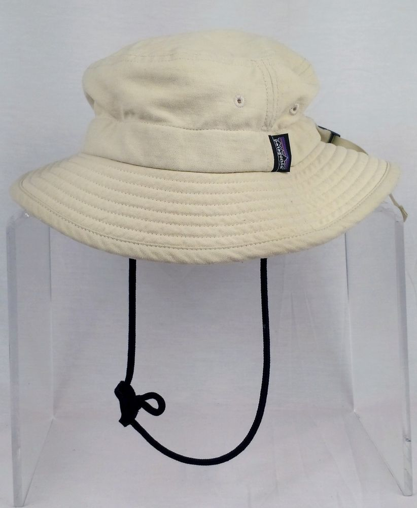 Patagonia Surf Brim Beige Hat Outdoor Hiking Shade Fishing Floating Size Small Patagonia Widebrim Hats For Men Beige Hat Hats