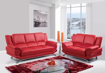 G9908 Red Sofa in 2019 | sofas | Leather living room set, Leather ...