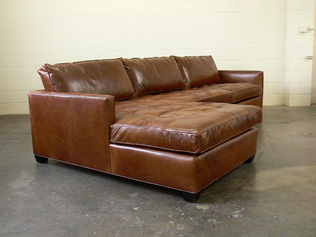 The Arizona Leather Sectional in Brompton Classic Vintage : vintage leather sectional - Sectionals, Sofas & Couches