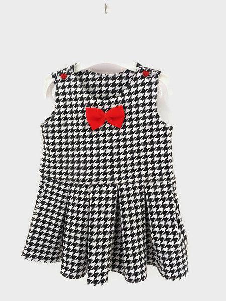 Sukienka dla dziewczynki roz 86 pepitka  - Muusia - Ubranka dla niemowląt