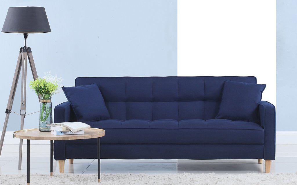 Strange Solis Contemporary Box Tufted Linen Sofa New Cottage Inzonedesignstudio Interior Chair Design Inzonedesignstudiocom