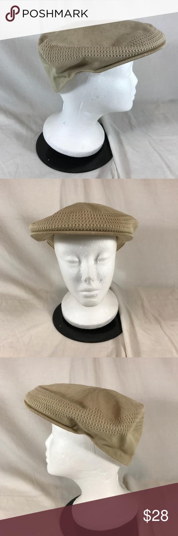 0e59592b72a Kangol Tropic 504 Ventair Hat Flat Cap Beige XL Kangol Tropic 504 Ventair  Hat Cap