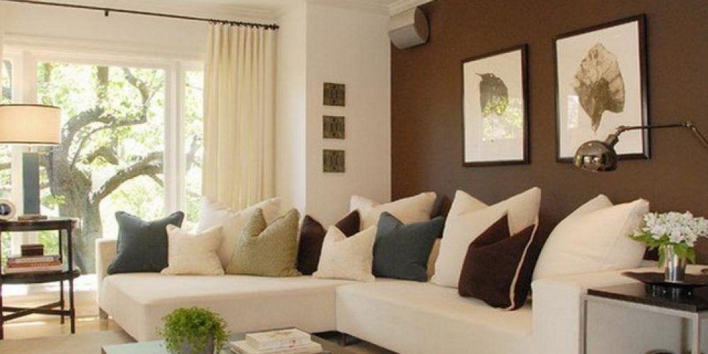 Http Ecmc2010 Com Two Colour Combination For Living Room Two Colour Combination For Living R Accent Walls In Living Room Brown Living Room Living Room Colors