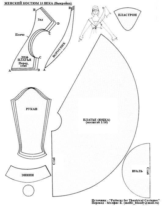 ещё женский костюм 15 века | История костюма | Pinterest