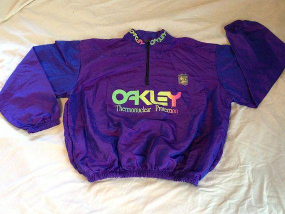 b764a4b15f OAKLEY Windbreaker    90s Reflective Purple Oakley by APPROPRIATED ...