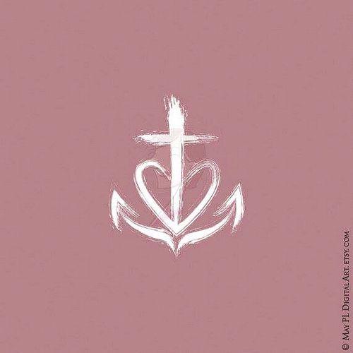 faith hope love christian symbol from may pl digital art