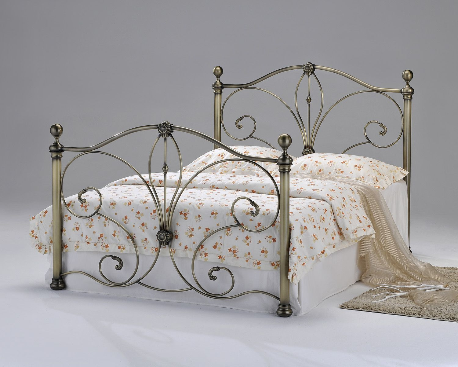 Best 4Ft6 Radiance Antique Brass Bed Frame £529 95 A Truly 400 x 300