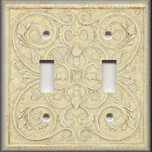 Light Switch Plate Cover Wall Decor French Pattern Image Ivory | eBay