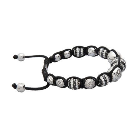 Shamballa Jewels Black & White Diamond Bead Bracelet