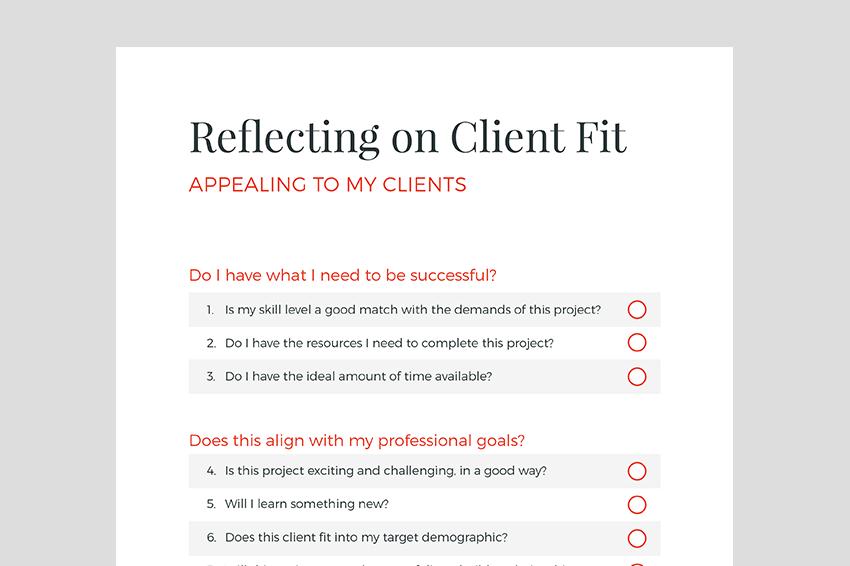Your Client Fit Questionnaire Client Relationship Innovation Challenge Relationship Management