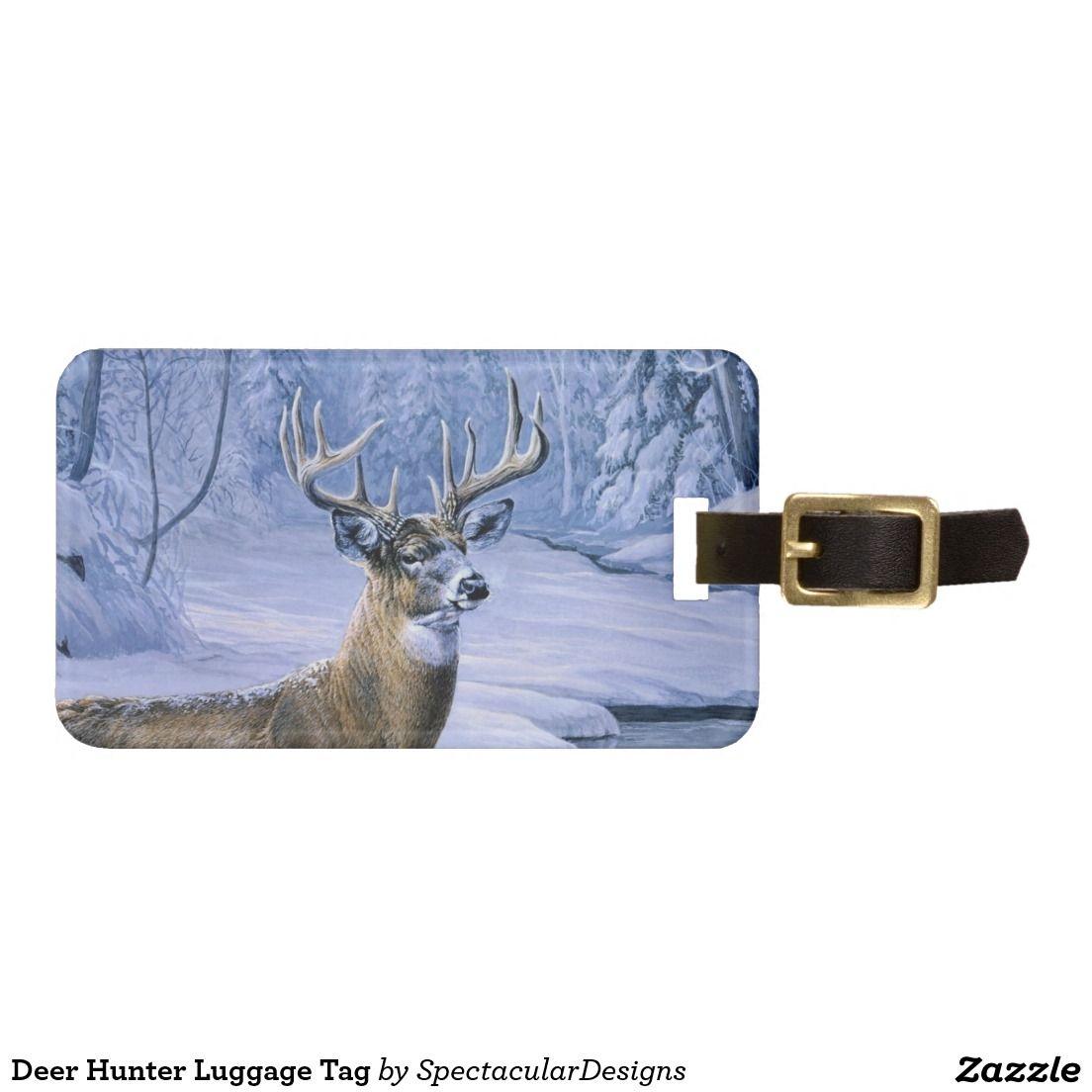 Deer hunter luggage tag luggage tags deer