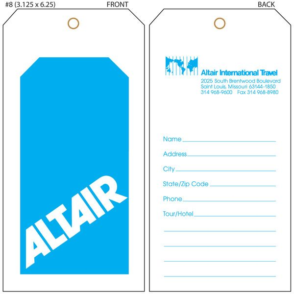 for Airline luggage tag template