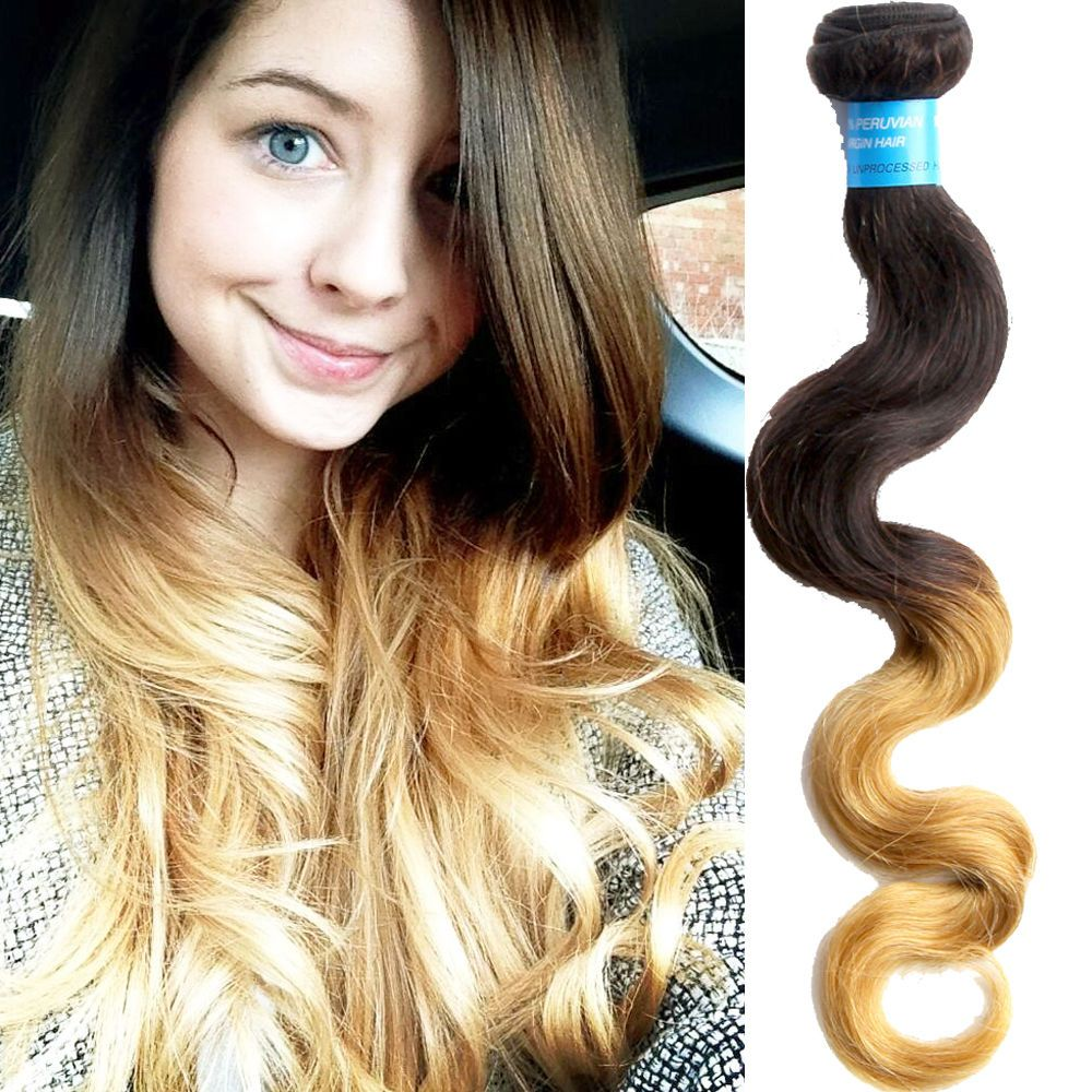 3 Pcslot Peruvian Human Hair Extension Ombre Hair Weft 10 30 Body